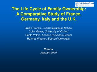 The Life Cycle of Family Ownership:  A Comparative Study of France, Germany, Italy and the U.K.