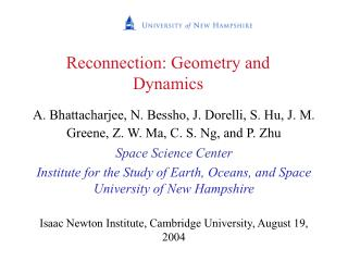 Reconnection: Geometry and Dynamics