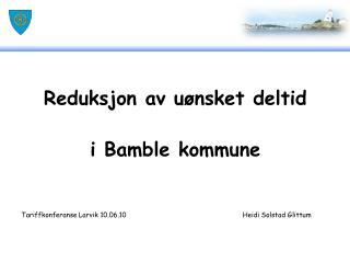 Reduksjon av uønsket deltid i Bamble kommune