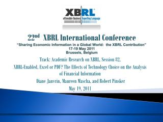 Track:  Academic Research on XBRL, Session  82,