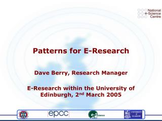 Patterns for E-Research