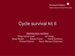 Cycle survival kit II