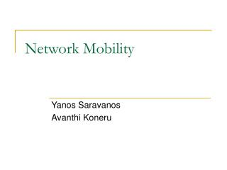 Network Mobility