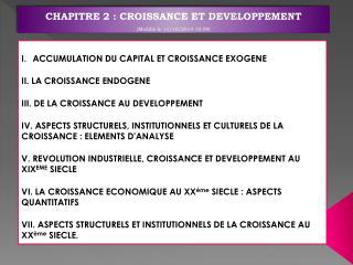 CHAPITRE 2: CROISSANCE ET DEVELOPPEMENT  (Modifié le  11/10/2014 10:09 )