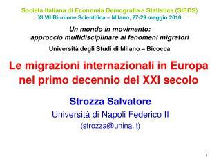Le migrazioni internazionali in Europa nel primo decennio del XXI secolo