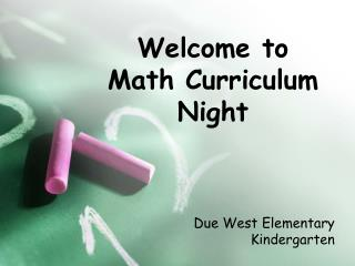 Welcome to  Math Curriculum Night