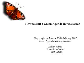 How to start a Green Agenda in rural area?