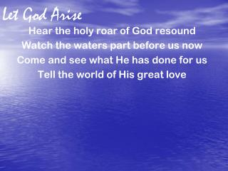Let God Arise
