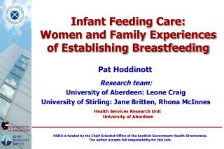 Infant Feeding Care: Women and Family Experiences of Establishing Breastfeeding