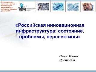 «Российская инновационная инфраструктура: состояние, проблемы, перспективы»