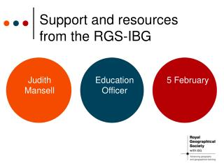 Support and resources from the RGS-IBG