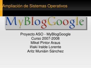 Ampliaci�n de Sistemas Operativos
