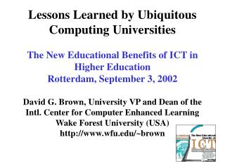 Ubiquitous Computing Defined