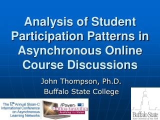 Analysis of Student Participation Patterns in Asynchronous Online Course Discussions