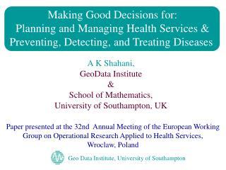 Geo Data Institute, University of Southampton