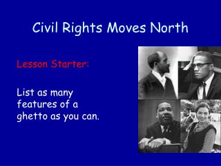 Civil Rights Moves North