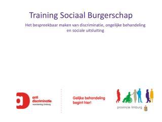 Training Sociaal Burgerschap