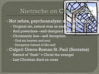 Nietzsche  on  Christianity
