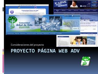 Proyecto página web  adv