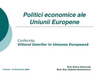 Politici economice ale Uniunii Europene