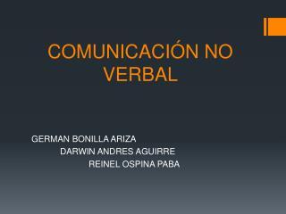 COMUNICACI�N NO         VERBAL