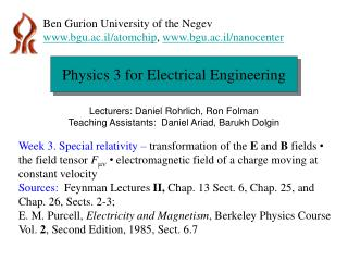 Physics 3 for Electrical Engineering