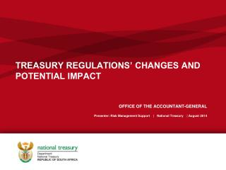 TREASURY REGULATIONS� CHANGES AND POTENTIAL IMPACT