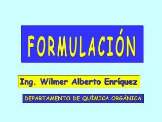 Ing. Wilmer Alberto Enríquez