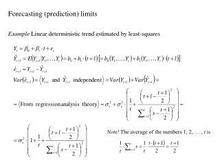 Forecasting (prediction) limits