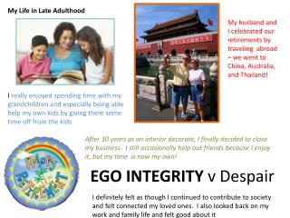 EGO INTEGRITY  v Despair