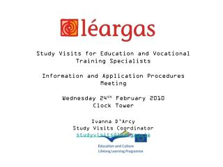 Study Visits for Education and Vocational Training Specialists