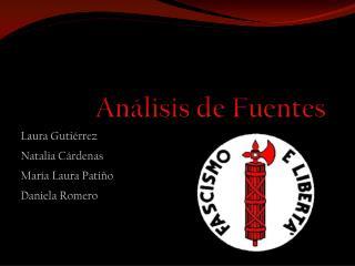 Análisis de Fuentes