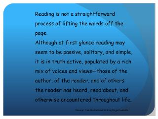 """What does the author mean by """"lifting the words?"""""""