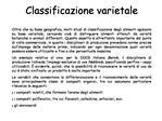 Classificazione varietale