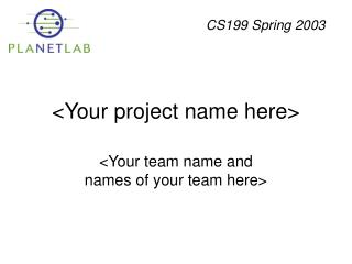 <Your project name here>
