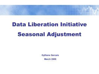 Data Liberation Initiative Seasonal Adjustment