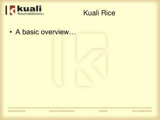 Kuali Rice