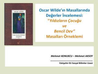 Mehmet  KONUKCU – Mehmet  AKSOY _______________________________