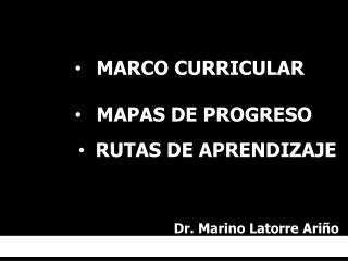 MARCO CURRICULAR MAPAS DE PROGRESO