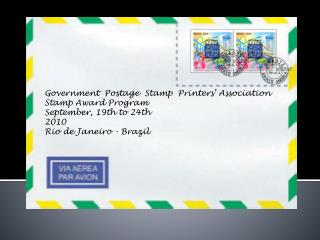 Government  Postage  Stamp  Printers' Association Stamp Award Program September, 19th to 24th 2010