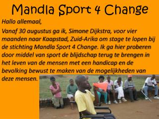 Mandla  Sport 4  Change