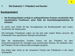 7Die Exekutive 1: Präsident und Kanzler