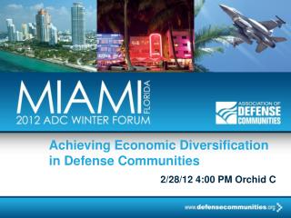 Achieving Economic Diversification in Defense Communities