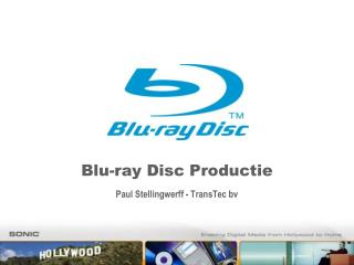 Blu-ray Disc Productie Paul Stellingwerff - TransTec bv