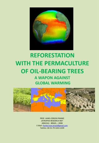 REFORESTATION WITH THE PERMACULTURE  OF OIL-BEARING TREES A WAPON AGAINST  GLOBAL WARMING
