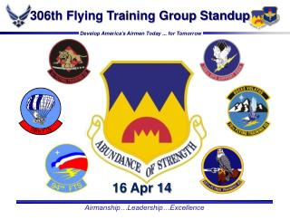 306th Flying Training Group Standup