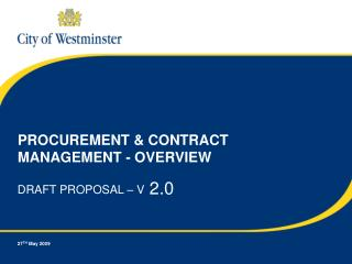 PROCUREMENT & CONTRACT MANAGEMENT - OVERVIEW