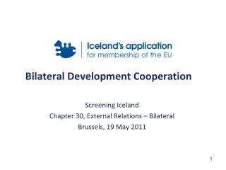Bilateral Development Cooperation
