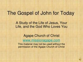 The Gospel of John for Today