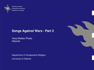 Songs Against Wars - Part 2
